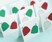 Dancing Gumdrops Holiday Mini Cards Set of 8