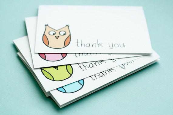 Thank You Cards - Curious Owl, Set of 10