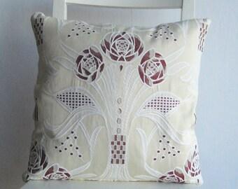 Art Nouveau Art Deco style floral 16 x 16  pillow cover