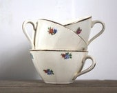 3 vintage french cups