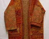 Golden Sunset--Quilted Kimono Jacket (Size L)