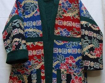 Hawaiian Delight--Quilted Kimono Jacket (XL)