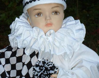 "C213   Adorable  ""Harleyquinn"" Clown Halloween Costume Toddler 2"