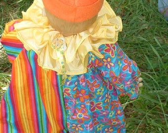 """C022  Ready To Ship  Awesome """"Flower"""" Circus Clown Halloween Costume Toddler 4"""