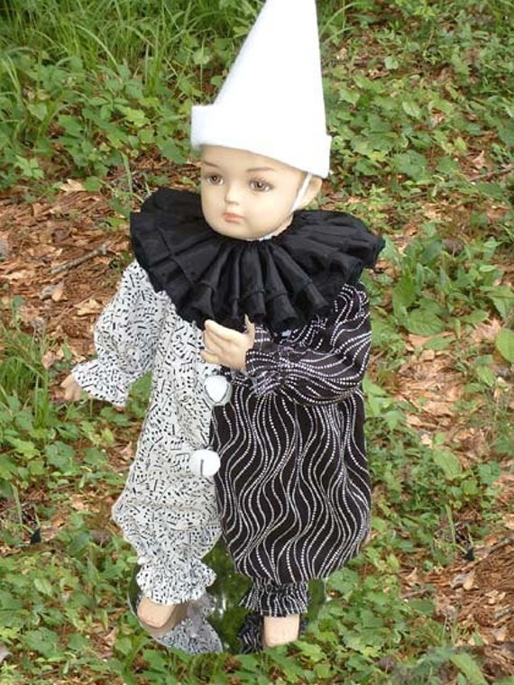 """C038  Ready To Ship   Fantastic """"Melody"""" Circus Clown Halloween Costume   Children's Sizes"""