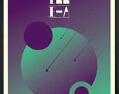 Festival Antenne-A 2009 Silkscreen Concert Poster