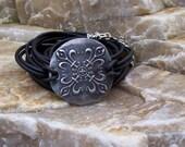 Silver Bracelet Celtic Shield