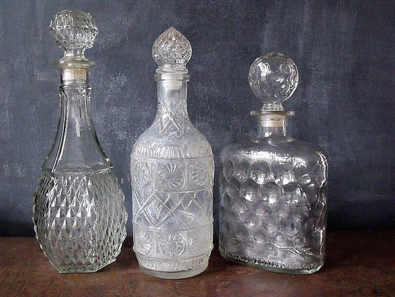 3 Vintage Decanters