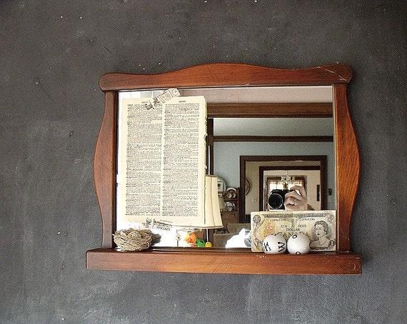 Vintage Wooden Mirror