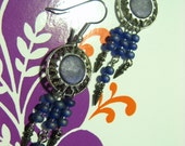 Small Sun Bursts. Button Earrings, button jewelry, sun art