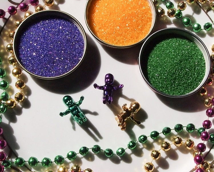 King Cake Decorating Kit for Mardi Gras by Topofilia on Etsy