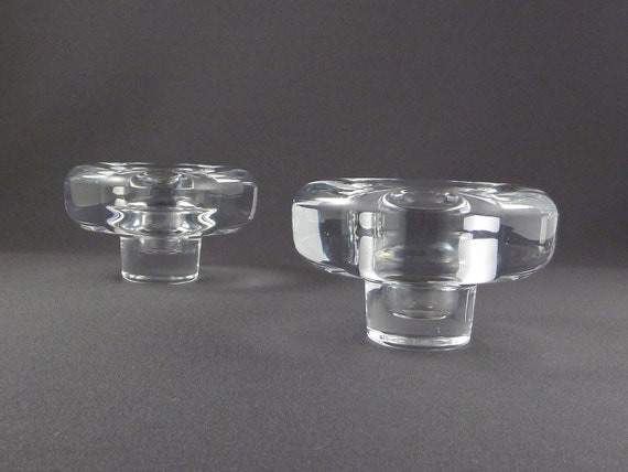 Quistgaard IHQ Lead Crystal candleholder set for Dansk