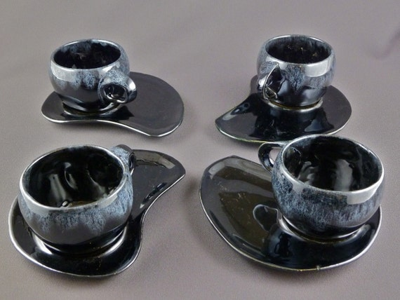 "Van Briggle Pottery ""Anna"" hostess / snack set  (truly rare)"
