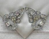 Art Deco Crystal Dress Clips