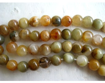 Cats Eye Rondelles - 6mm Cats Eye Beads - Half Strand - 7.5 Inches