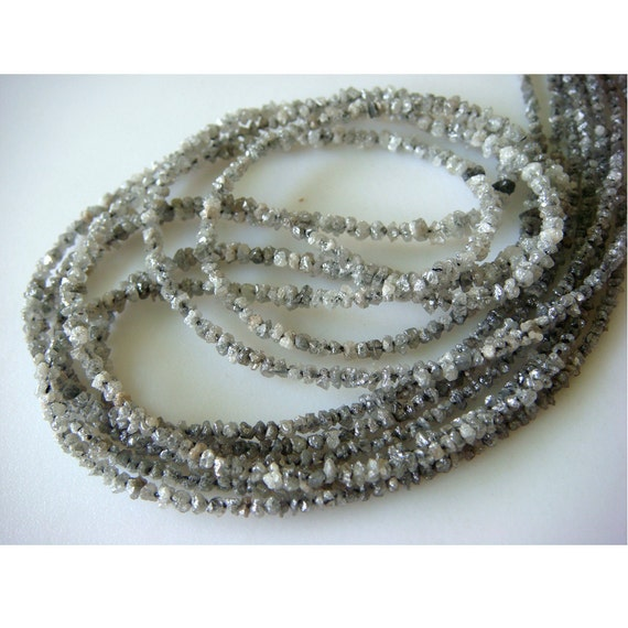Reserved For Amy - Rough Diamonds - Natural Rough Diamond Chips - 3mm - 2mm Approx. - 8 Inches Half Strand