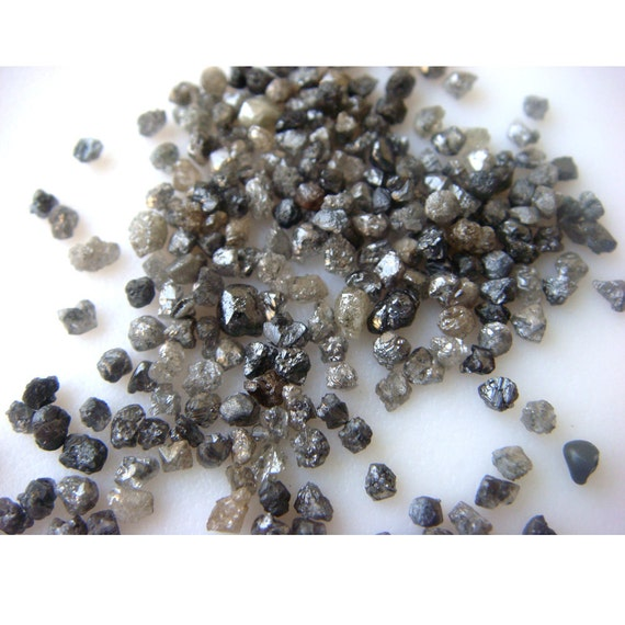 Rough Diamonds - Rough Diamond Pieces Direct From The Mines In Its Natural Form - 95 -100 Pieces Approx - 2mm To 1mm Each