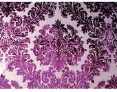 Reserved For Lucy Madison NYC - Wine Damask Carnival - Burnout Velvet on Fancy Fabric