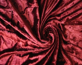 Maroon Velvet Fabric Yardage Fabric Curtain Fabric Fashion Velvet Upholstery Fabric Decorative Fabric Window Treatment Fabric By The Yard
