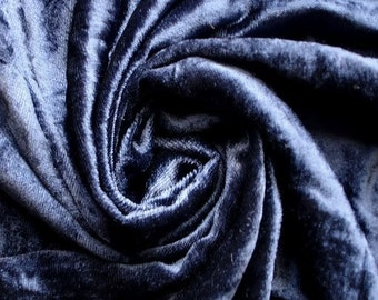 Navy Blue Velvet Fabric Yardage Fabric Curtain Fabric Fashion Velvet Upholstery Fabric Decorative Fabric Window Treatment Fabric By The Yard