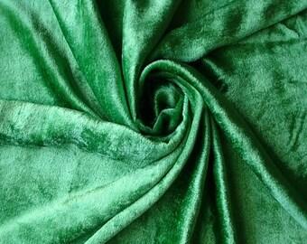 Emerald Green Velvet Fabric Yardage Curtain Fabric Fashion Velvet Upholstery Fabric Decorative Fabric Window Treatment Fabric By The Yard