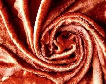 Rust Velvet Fabric Yardage Commercial Fabric Curtain Fabric Fashion Velvet Upholstery Fabric Decorative Fabric Window Treatment Fabric