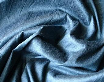 MidNight Blue Art Silk Fabric By The Yard Silk Curtain Fabric Apparel Fabric Silk Dupioni Fabric Indian Silk Fabric By The Yard