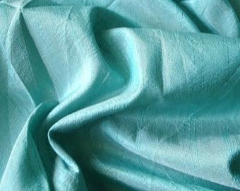Sea Green Art Silk Fabric By The Yard Silk Curtain Fabric Apparel Fabric Silk Dupioni Fabric Indian Silk Fabric By The Yard