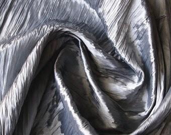Silver Grey Crushed Art Silk