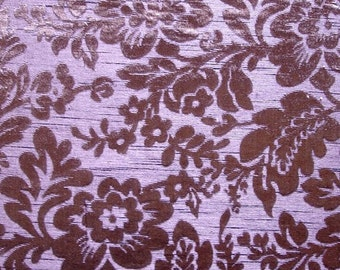 Wine Garden - Burnout Velvet on Fancy Fabric