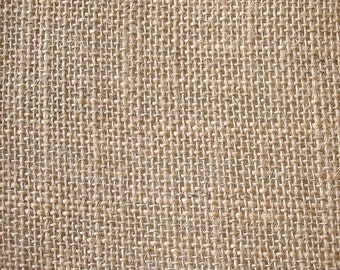 Natural Burlap Fabric - 1 Yard