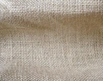 Light Beige Burlap Fabric - 1 Yard