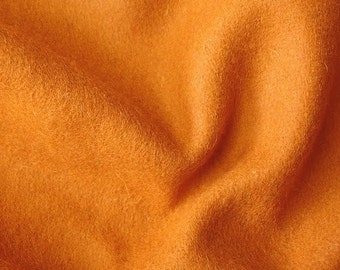 Orange Felt Fabric - 1 Yard