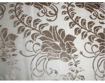 Ivory Ivy Garden - Burnout Velvet on Fancy Fabric