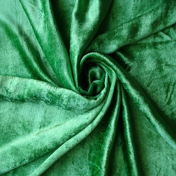 Emerald Green Velvet Fabric Yardage Commercial Fabric Curtain