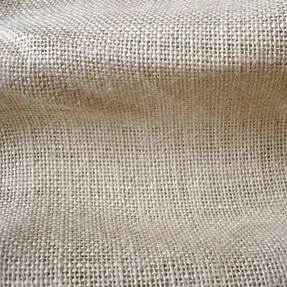 Light Beige Burlap Fabric - 1 Yard