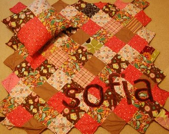 Custom Quilt and Pillow: Sofia (Example)