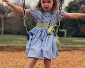 Gingham Shirtdress for Girls - Holiday Colors