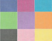 "1 Yard 1/8"" Carolina Gingham by Robert Kaufman - Create your own Bundle Choose up to 4 Fabrics from 16 different colors"