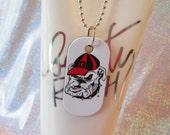 Georgia Bulldog Dog Tag Necklace