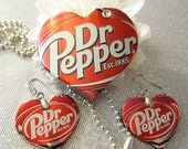 Dr. Pepper - Soda Can Necklace Set