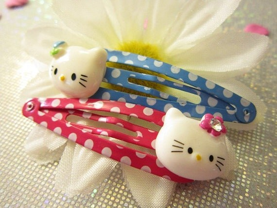 Hello Kitty Hair Clips - Barrettes