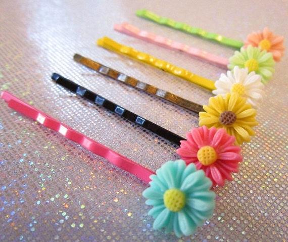 Hair Pins - Flower Bobby Pins - Under Ten Girl Gift