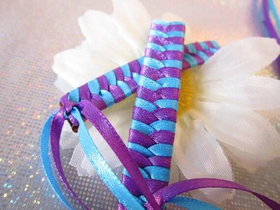 Retro Braided Ribbon Barrettes - Spring Hair Clip - Tween