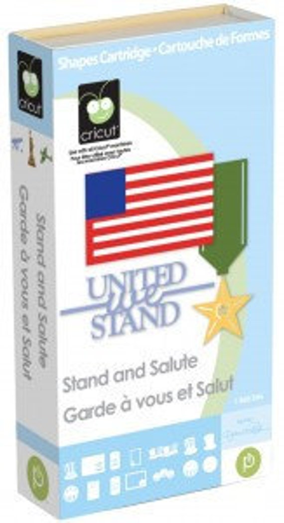 United We Stand Die Cut Cricut Cartridge Stand Amp Salute New