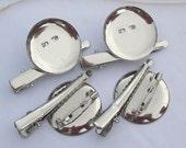 100pcs 29mm silver metal Hair Clip Brooch Pin Backings
