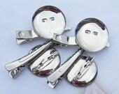 100pcs 23mm silver metal Hair Clip Brooch Pin Backings