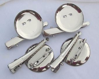 25pcs 29mm silver metal Hair Clip Brooch Pin Backings