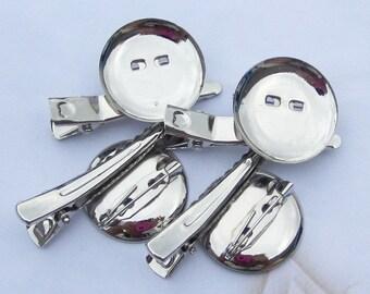 20pcs 23mm silver metal Hair Clip Brooch Pin Backings