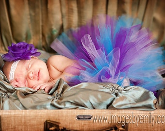 Baby Tutu Purple and Turquoise Newborn 0-6 months 6-12 months 12-24 months 3T 4T 5T 6 Sophia Tutu